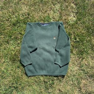 Tommy Hilfiger forest green men's sweater